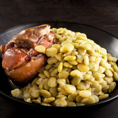 Slow Cooker Baby Limas with Ham