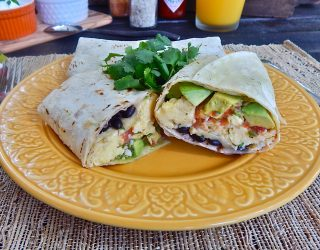 Black Bean Breakfast Burritos