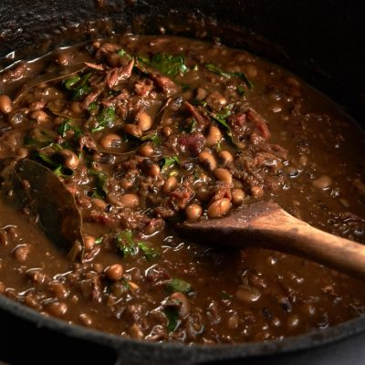 New Year's Pork, Collard and Blackeye Pea Gumbo