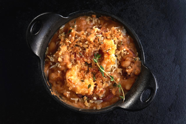 Camellia's Shrimp, Andouille and White Bean Cassoulet