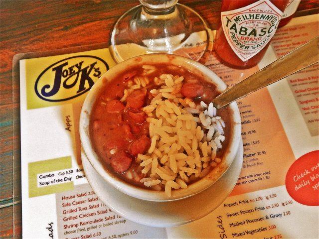Joey K's Restaurant Red Beans