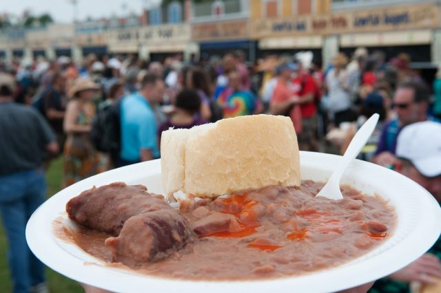 Louisiana red beans and rice, festival foods