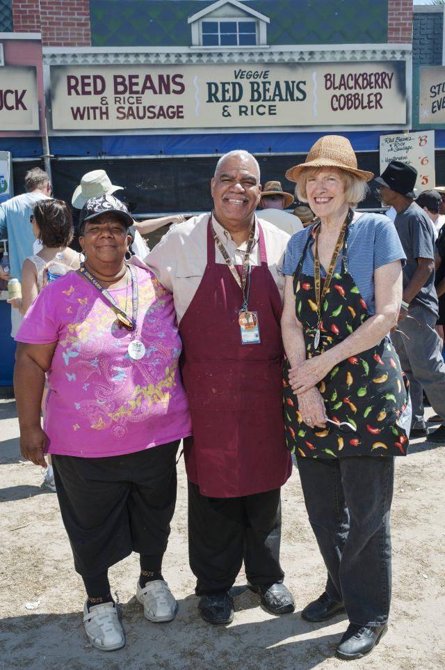 Judy Burks, Morris Douglas, and Pam Douglas
