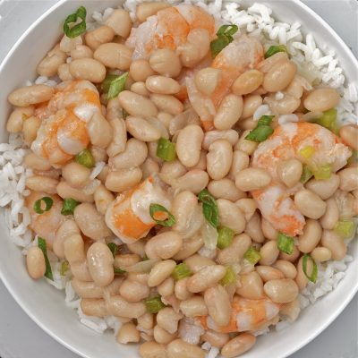 Quick and Easy Pressure Cooker Creole White Beans with Shrimp Recipe