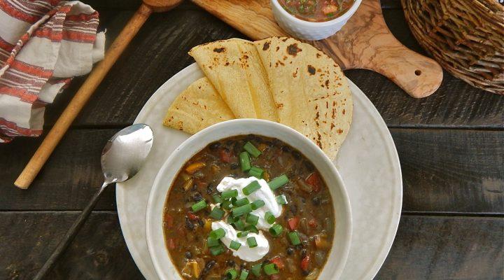 Tex-Mex Black Bean Soup