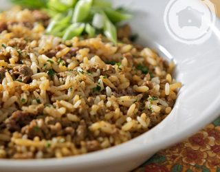 Slow Cooker Cajun DIrty Rice