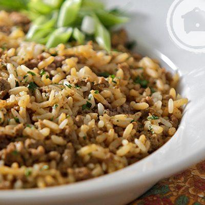 Slow Cooker Cajun DIrty Rice