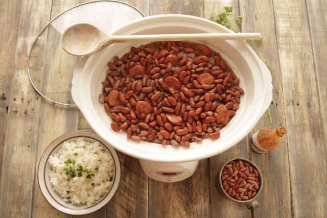Red Beans and Rice in a Slow Cooker