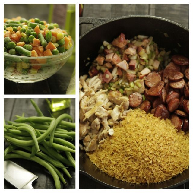 Frozen or fresh veggies can be added to Camellia Jambalaya Dinner Mix