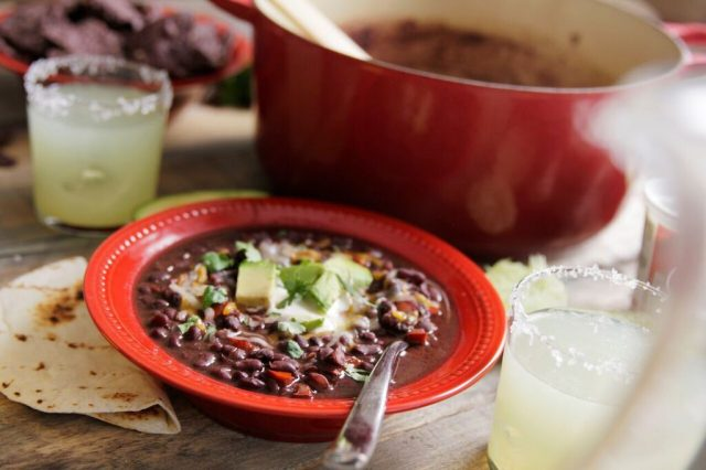 Serve up Camellia Chipotle Black Bean Soup with fresh toppings, tortilla chips and margaritas! It's a flavorful and effortless way to entertain!