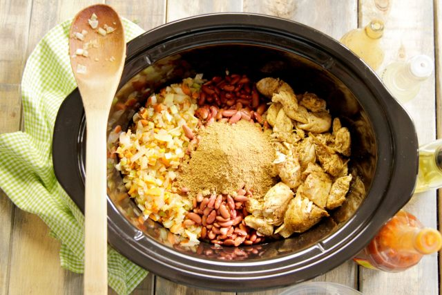 ingredients for Slow Cooker Creole Chicken & Red Bean Gumbo