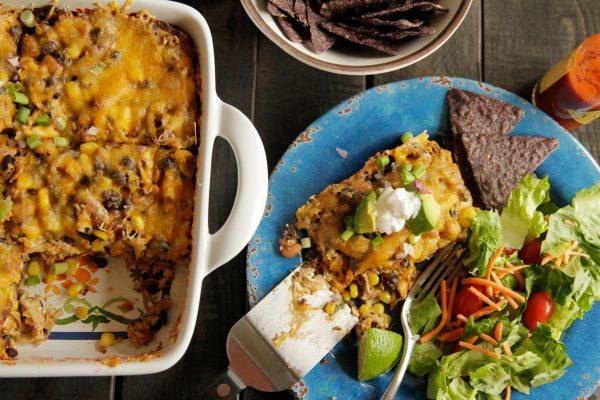 Smoked Chicken & Black Bean Enchilada Casserole :: Recipes ...