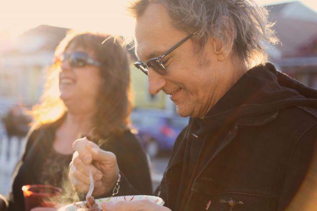 Gary and Debra Enjoying red beans & rice