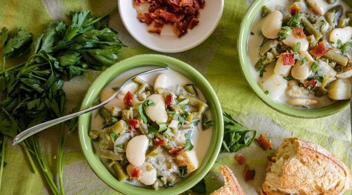 Ruth's Southern Country-Style Butter Bean & Green Bean Soup with Potatoes