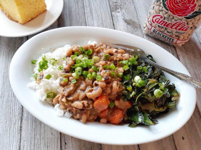 The Best Meatless Black Eyed Peas & Rice