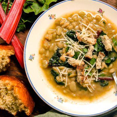 Instant Pot Lima Beans & Greens Soup