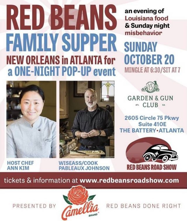Red Beans Roadshow at the Garden and Gun Club Atlanta