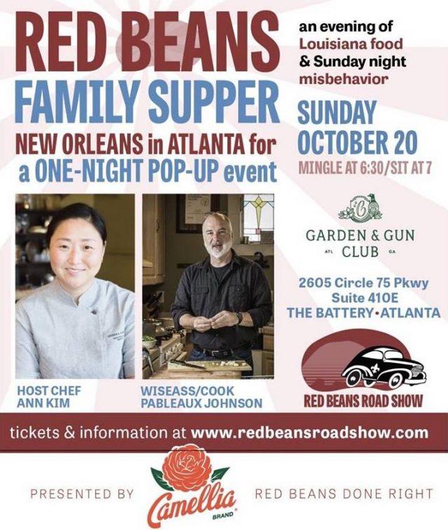 Red Beans Roadshow at the Garden and Gun Club Atlanta