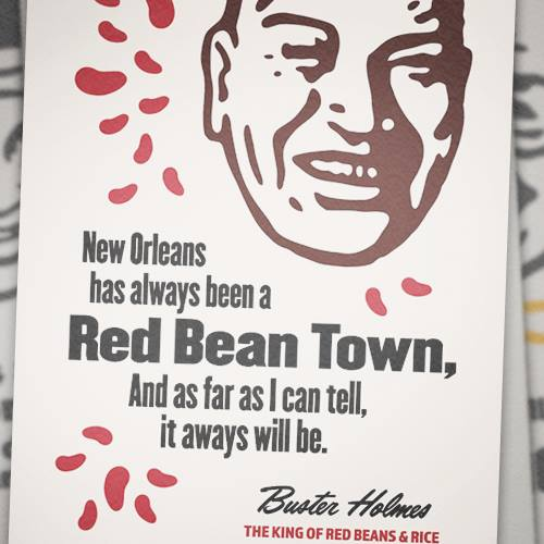 Buster Holmes Red Bean Hall of Fame Poster""