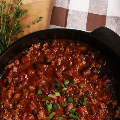 Creole-Style Pork & Red Bean Chili