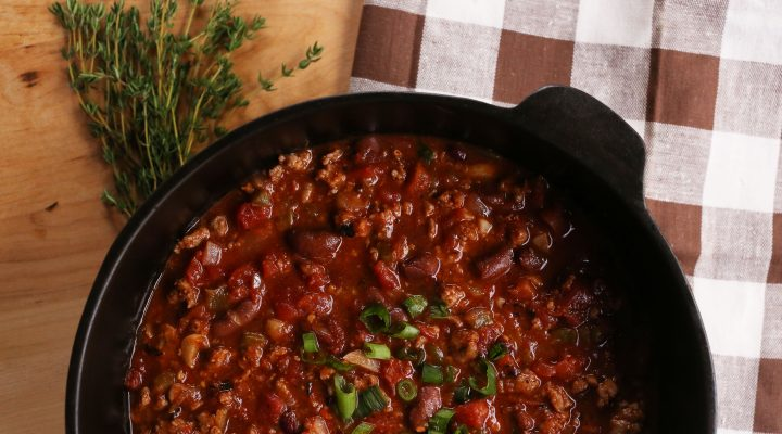 Creole Style Pork Red Bean Chili Recipes Camellia Brand