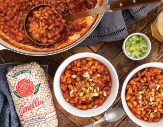 Jalapeño Pepper Jelly Baked Beans
