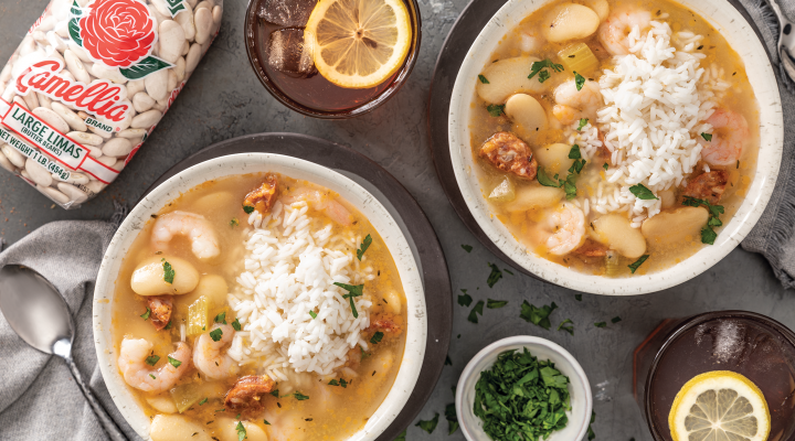 Lima Beans with Shrimp and Andouille