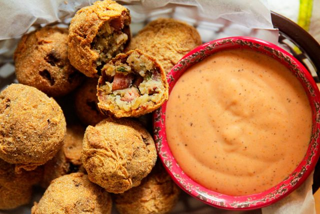 Red Beans and Rice Boudin Balls with Dipping Sauce